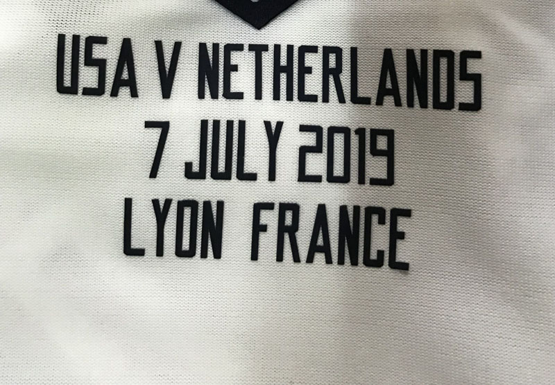 2019 Women World Cup Final match details Usa Vs netherlands soccer patch Iron badge image