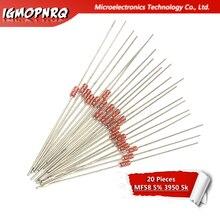 20pcs MF58 B value: 3950 5K ohm 5% MF58-5K 5Kohm thermistor Resistor