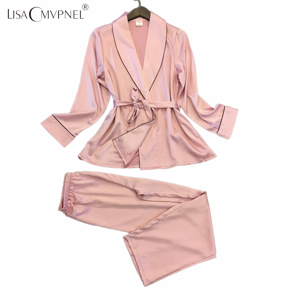 Lisacmvpnel Long Style Soft Breathable Women   Pajamas   Rayon Casual Female   Pajama     set   Twinset Women Homewear