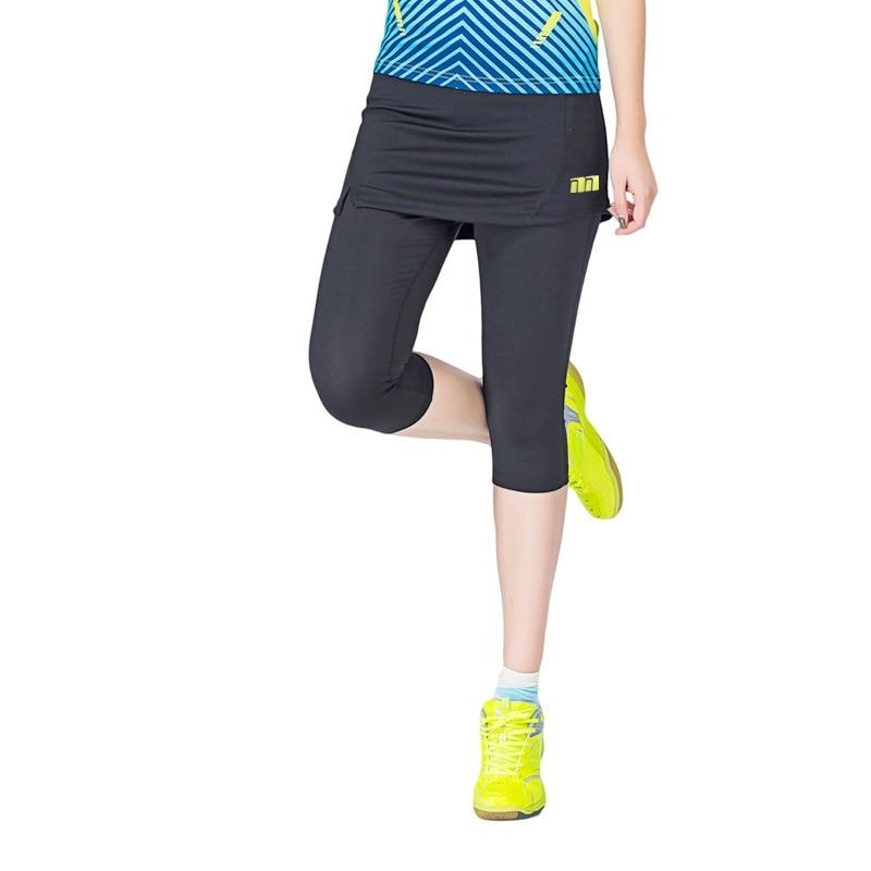 Women Badminton Dress pants One Piece Suits Running Leggings Outdoor Fitness Tennis Pants Skirts Gym Girl Badminton Tights Skirt