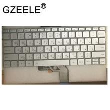 GZEELE Russian Keyboard for Xiaomi MI Air 13.3 inch 9Z.ND7BW.001 MK10000005761 490.09U07.0D01 notebook RU silver Backlit