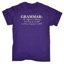 где купить Cool T Shirt Companies Grammar Knowing You'Re S Crew Neck Men Short Sleeve Compression T Shirts дешево
