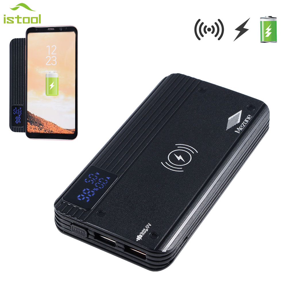 Qw8 Wireless Charger For Samsung 10000mah Power Bank With 2 Usb Galaxy S9 Free Anker Powerbank Mah 10000 Black Outputs Include Qc30 Fast Charging Pad Iphone X 8 Plus In Chargers From Consumer