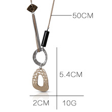 New splice irregular mathematics science triangle round pendant necklace polygon creative stitching geometric