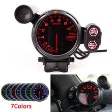 Defi BF 3.75 Inch 80mm 7 Colors 0-11000 RPM Tachometer Gauge RPM Gauge Stepper Motor with Car Shift Light For Auto Car