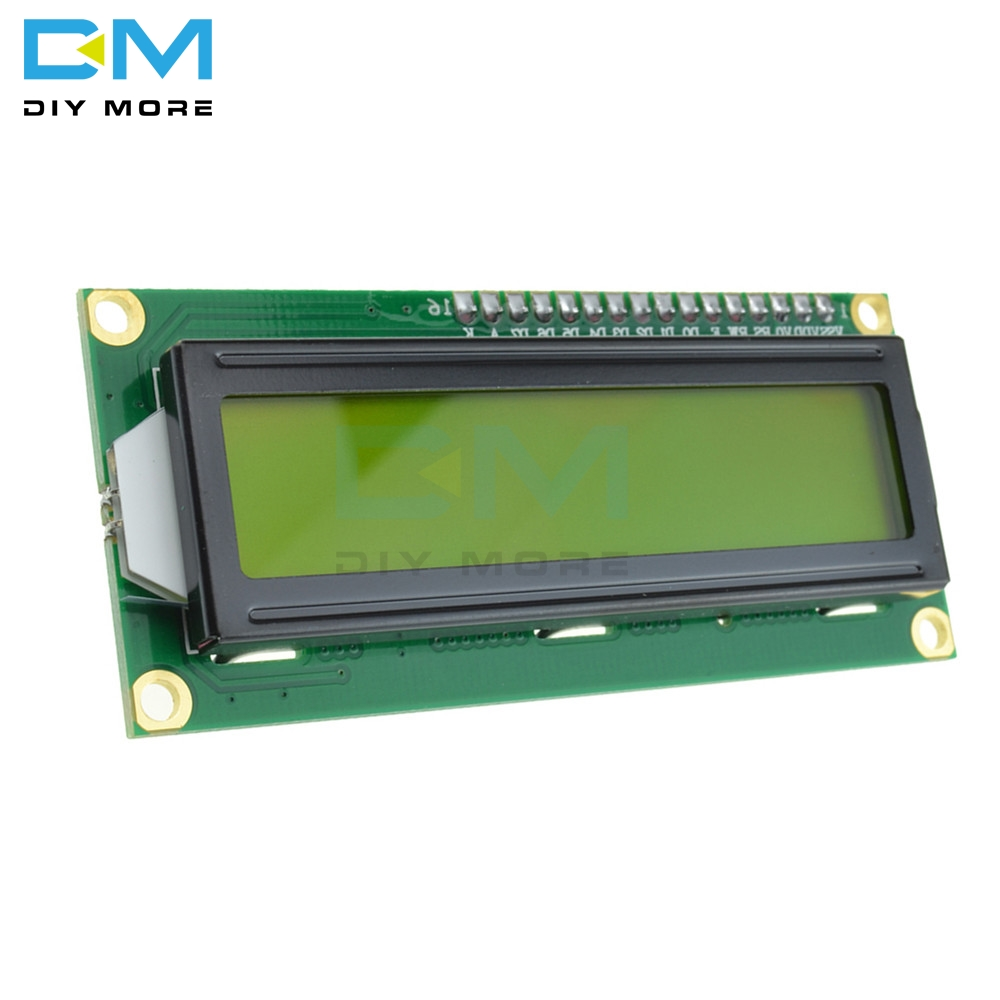 1602 16x2 16 X 2 HD44780 Character Digital LCD Display Module Controller Board Yellow Backlight Wide Viewing Angle High Contrast
