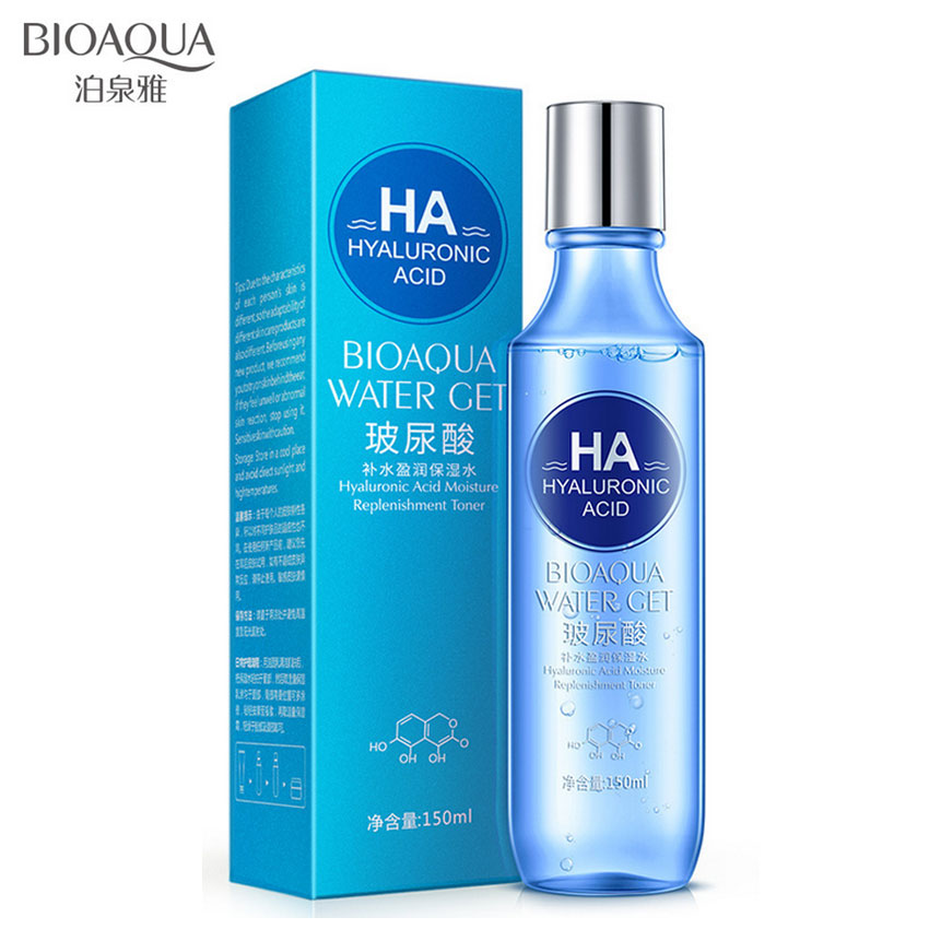 BIOAQUA Hyaluronic Acid Moisture Replenishment Toner Face Toners Skin Care Refreshing Whitening Skin Treatment Beauty Face Care
