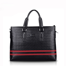 real genuine leather briefcases men brand luxury Business handbag Fashion Leisure Mens Bags diamond lattice