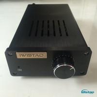 IWISTAO 2X20W wzmacniacza hifi Stereo LM1875 wzmacniacz mocy pulpit niezależny prostownik L R kanał głośnik obwód ochronny w Wzmacniacz od Elektronika użytkowa na