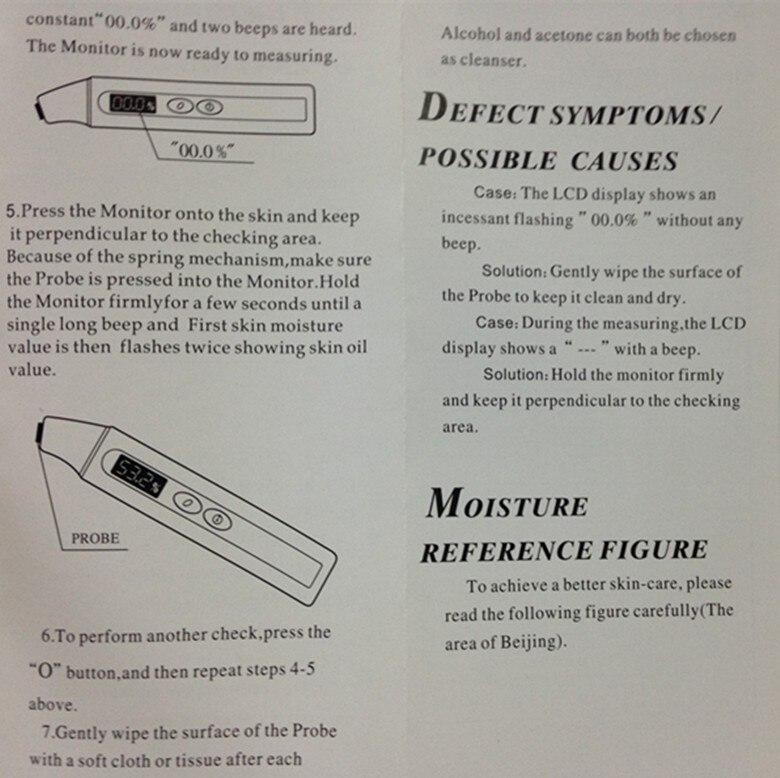Präzisions-digital Haut Feuchtigkeit Tester Zeigt Öl Feuchtigkeit-test Pen Digitalen Feuchtigkeit Monitor Für Haut Heißer Verkauf Freies Verschiffen Werkzeuge