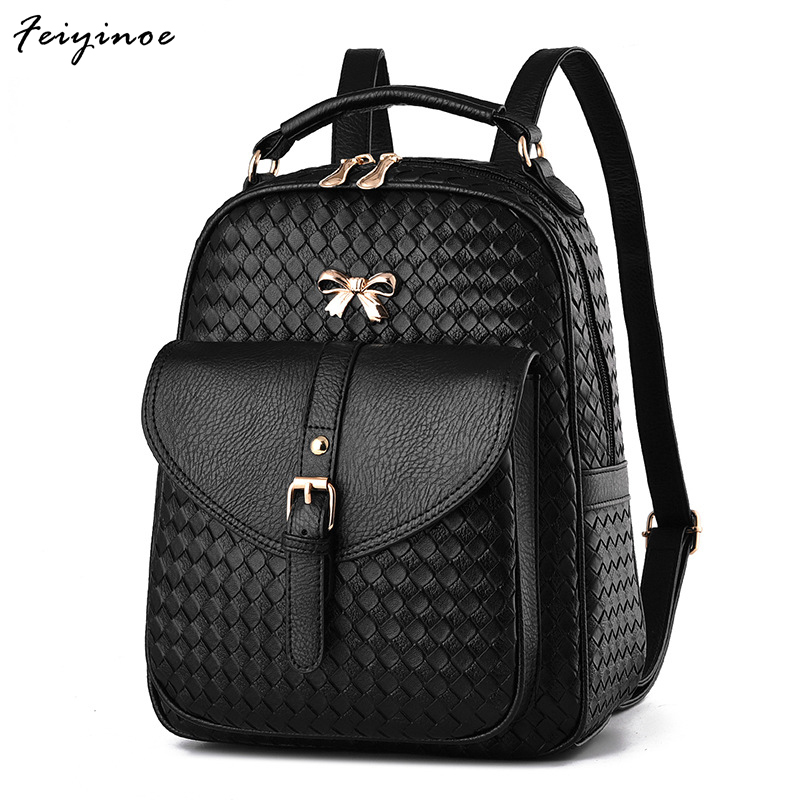 Women backpack 2017 fashion new lady backpack Korean wave female bag college wind pu leather bag rdgguh backpack bag new of female backpack autumn and winter new students fashion casual korean backpack