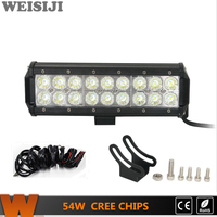 WEISIJI 54W 4 4 Offroad LED Light Bar For Jeep Hummer Ford SUV ATV UTV 9IN