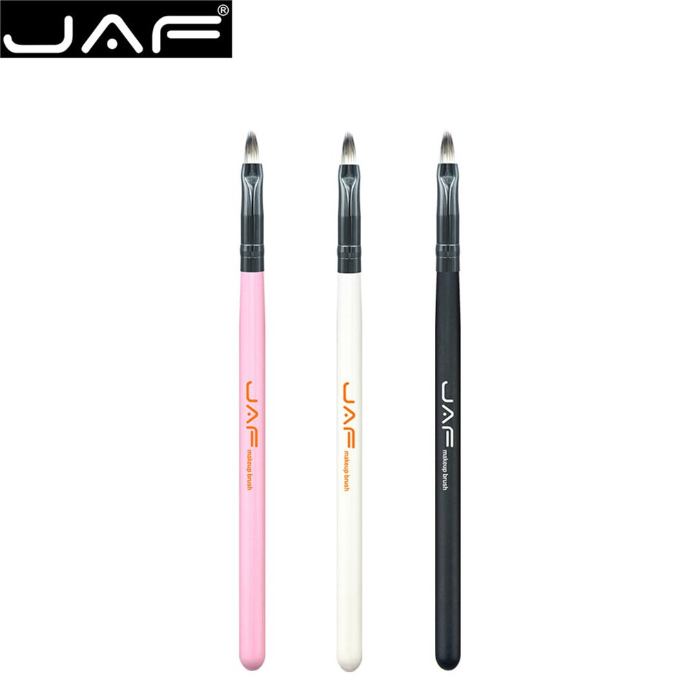 JAF 1PCS Lip Makeup Brush Fashionable Wooden Handle Soft Nylon Hair Lip Cosmetic Beauty Lipstick Brushes Tool 03STL