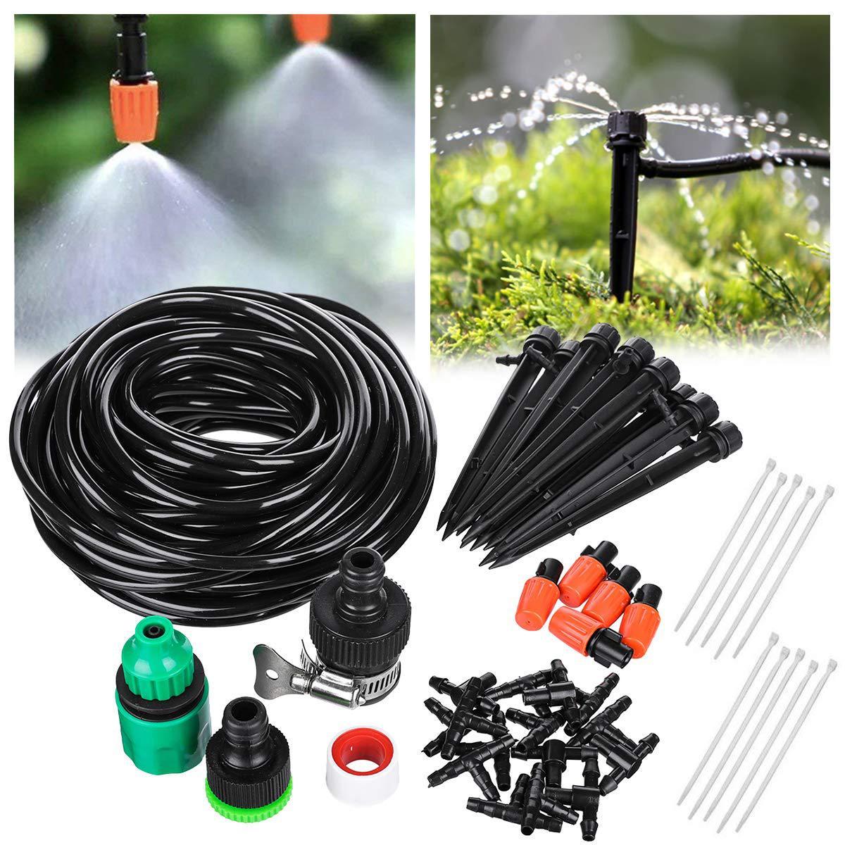 20 M bricolage système d'irrigation goutte à goutte automatique jardin arrosage ensemble d'irrigation Micro goutte à goutte jardin Kits d'arrosage avec goutteurs réglables