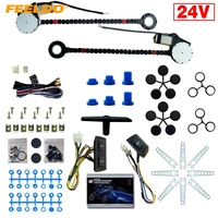 MOTOBOTS 24V Car/Truck Universal 2 Doors Electric Power Window Kits with 3pcs/Set Switches and Harness #1420