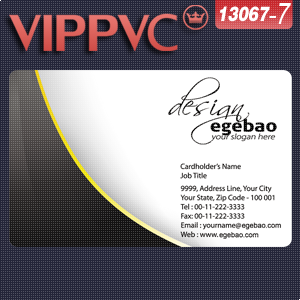 make business card a1367-7 Template for Card Design single faced printing transparencies