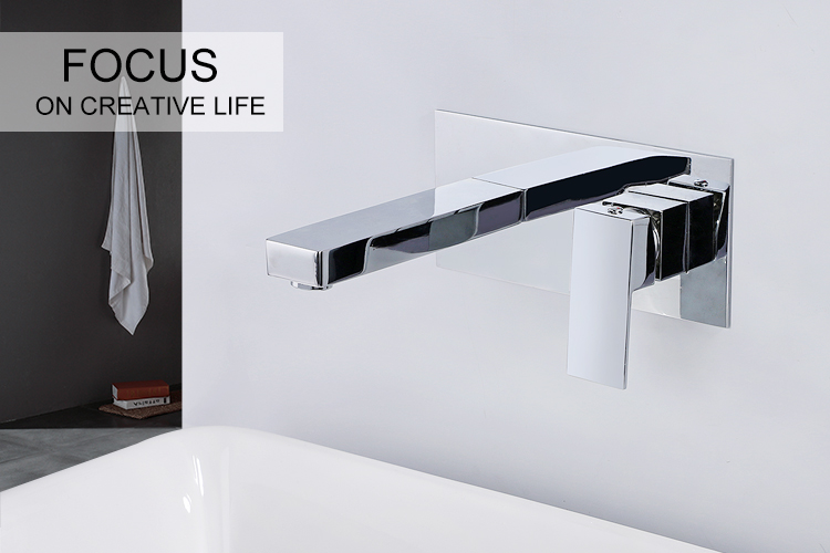 Bathroom Faucet Into the wall faucet cold and hot Water Taps Basin Mixer torneira do banheiro Concealed basin faucet bathroom faucet into the wall cold and hot water taps embedded type mixer double handles table basin wash basin faucet torneira
