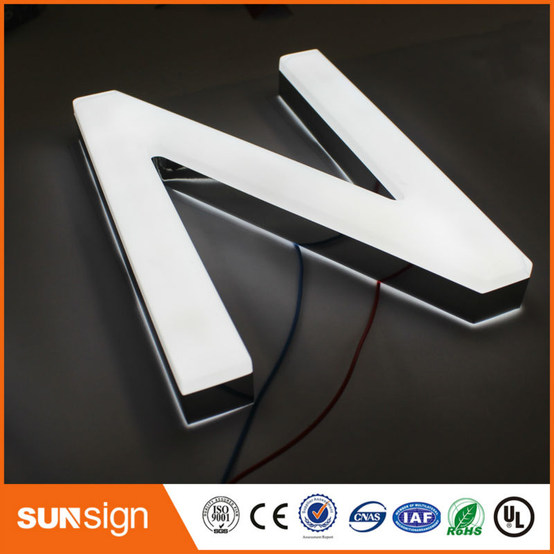 Wholesale 3d Stainless Steel Letter Illuminated Led Letter
