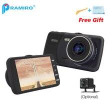 Voiture DVR Caméra Dash Caméra T600 Voiture Caméscope 4.0 »IPS écran Métal Cadre Cas Novatek 96658 AR0330 Double cam vidéo enregistreur