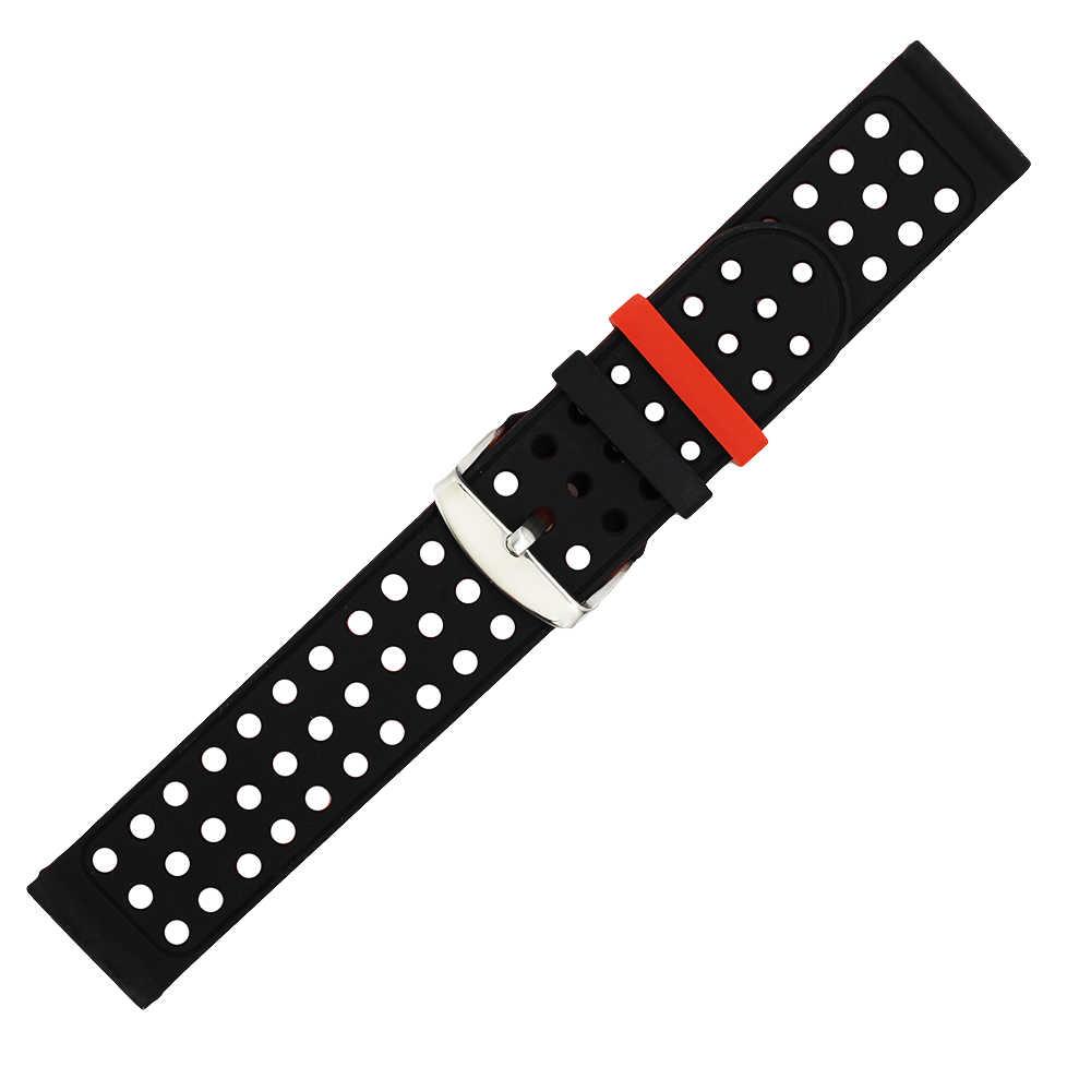 18mm 20mm 22mm 24mm Faixa de Relógio de Borracha de Silicone para o Zênite Paul Picot Moser Resin Strap Belt Loop De Pulso Pulseira Das Mulheres Dos Homens Azuis