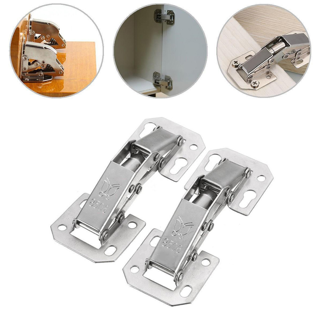 2pcs 90 Degree Cabinet Hinge Bridge Shaped Spring Frog Hinge Full Overlay Cupboard Door Hinges Furniture Hinges Hardware Mayitr brand naierdi 90 degree corner fold cabinet door hinges 90 angle hinge hardware for home kitchen bathroom cupboard with screws