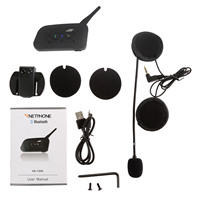 1200M Bluetooth Helmet Intercom Motorcycle Wireless BT Interphone Upto 6 Riders Headset Intercomunicadores De Motos