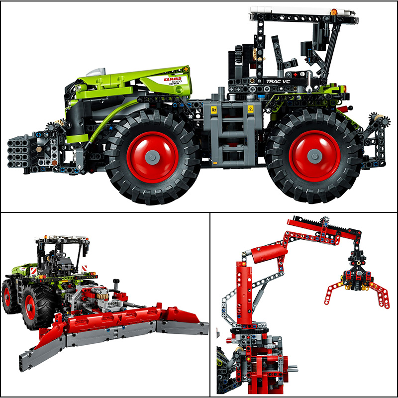 Technic CLAAS XERION 5000 TRA Building Blocks Electric Motors Power Functions Model Brick Compatible With Legoings Technic 42054