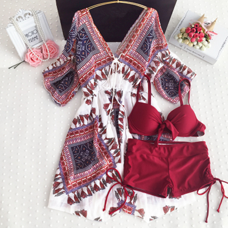 Women Tankini Sets Swimsuit With Shorts 4XL Bikini Ladies Swimwear 3 Piece Swimsuits Swimming Suit Brazilian Badpak Bathing