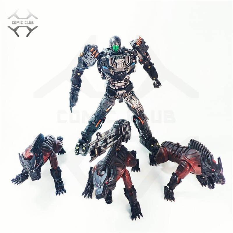 Cómic CLUB en stock transformación BSL 01 KO versión UT juguetes únicos R 01 Steeljaw bloqueo contiene 3 figuras de acción de lobo juguete-in Figuras de juguete y acción from Juguetes y pasatiempos    1