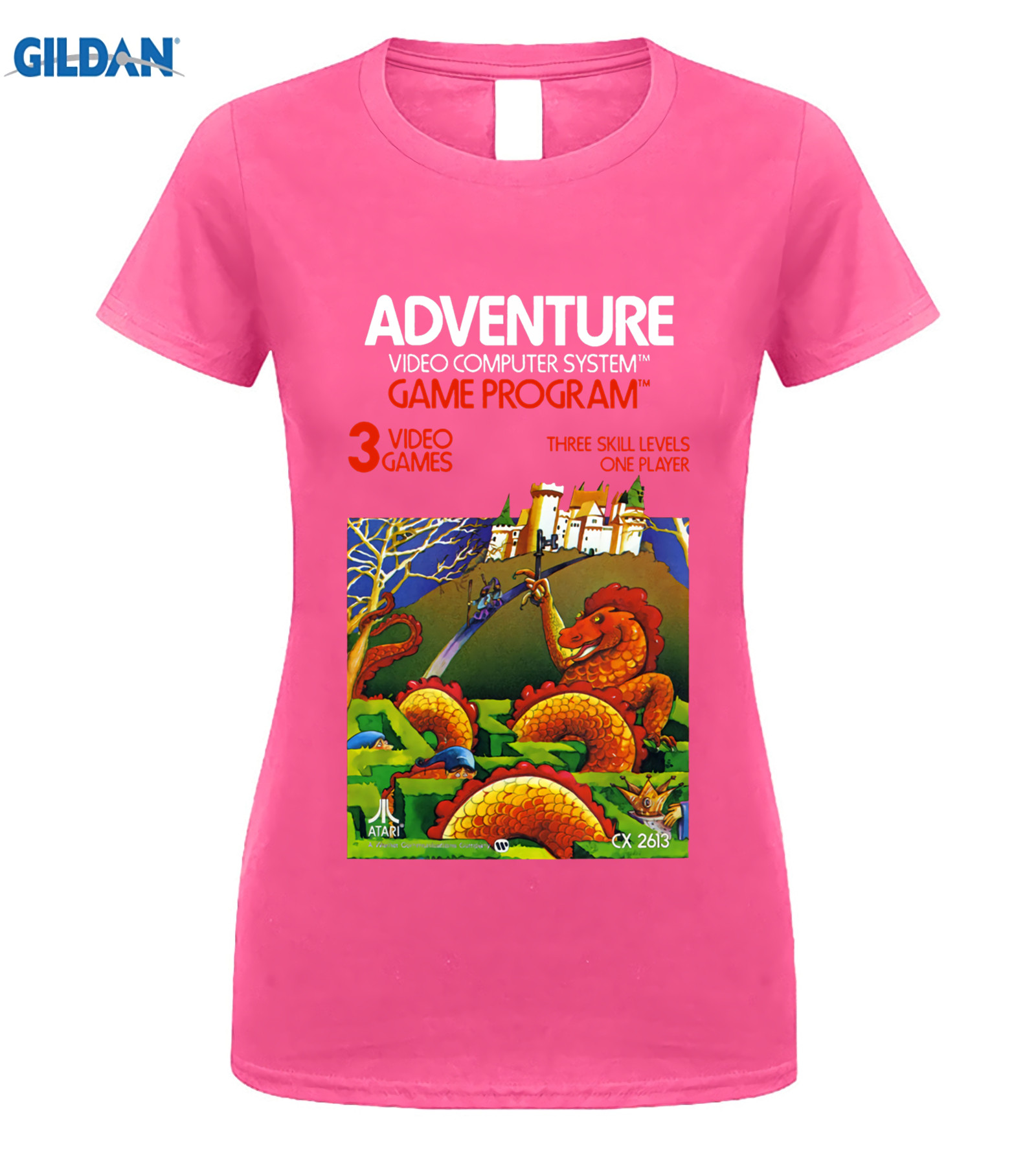 US $9 47 21% OFF|GILDAN Adventure Atari 2600 Retro Vintage Video Game Box  Art T Shirt-in T-Shirts from Men's Clothing on Aliexpress com | Alibaba