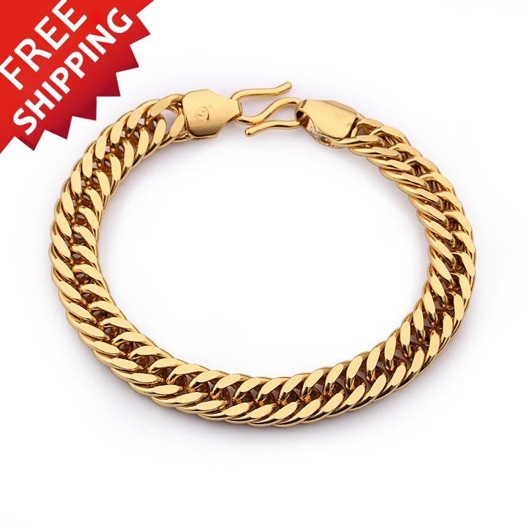 Gold Filled Snake Bracelets & Bangles Men Jewelry Indian Bangle