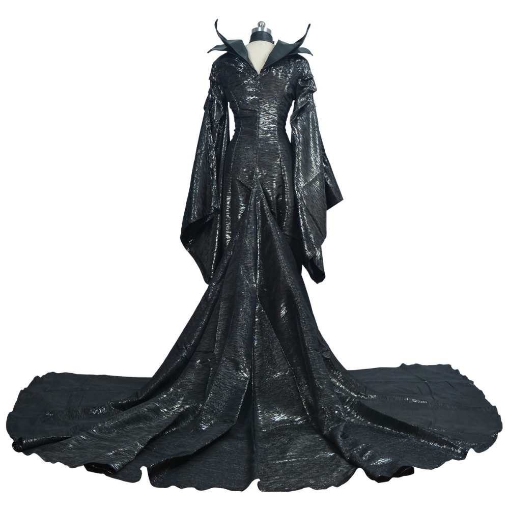 Maleficent Costume Maleficent Cosplay Maleficent Dress Halloween Costume for Adult Women Girls With Headwear Black Long Dress in Movie TV costumes from Novelty Special Use