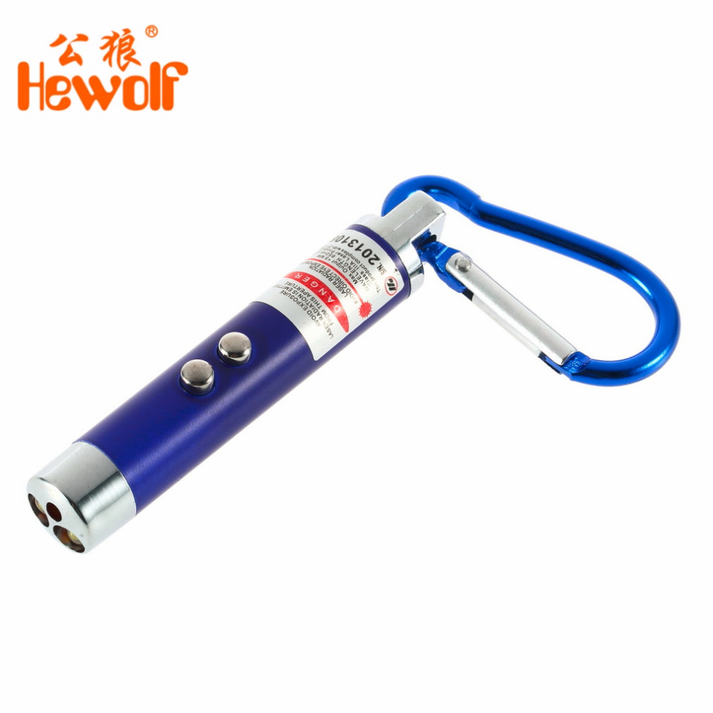 2in1 Mini 74*13mm Metal LED Laser Pen Pointer FlashLight Torch 5mW Emergency Tools Managers Beam Targets Flash Light + Keychain