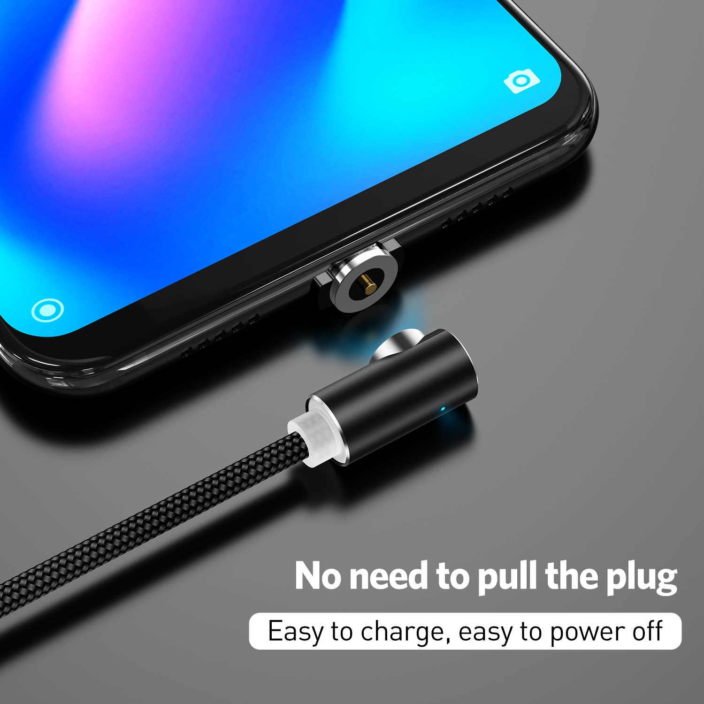 1 M 2 M 90 Gradi L Tipo di Cavo Magnetica per Il Iphone Xs Max X 8 7 Micro Cavo Usb E Usb Tipo C Usb C Magnete Cavo Cavo Del Caricatore
