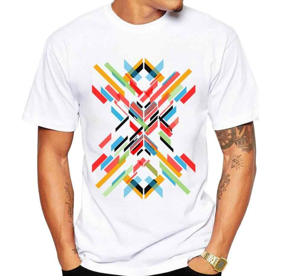 2018 Fashion Brand Men's T-shirt Trend Fit printing short Sleeve T Shirt Men Tee O-Neck Cotton Plus Size 5XL No glue print
