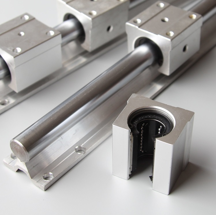 4pcs open pillow block SBR20UU with LM20UU bearing CNC linear slide guide rail