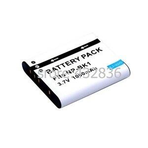 Image 1 - الجملة 1 قطعة 1000mAh NP BK1 BK1 ليثيوم أيون بطارية الكاميرا الرقمية + شاحن لسوني سايبر شوت DSC S950 S980 DSC S750