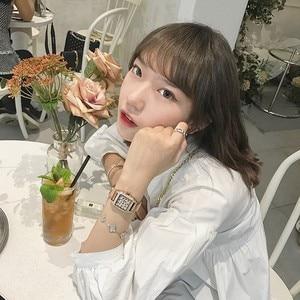 Image 5 - 2019 Luxury Brand lady Crystal Watch Women Dress Watch Fashion Rose Gold Quartz Watch Female Stainless Steel Purple Wristwatches