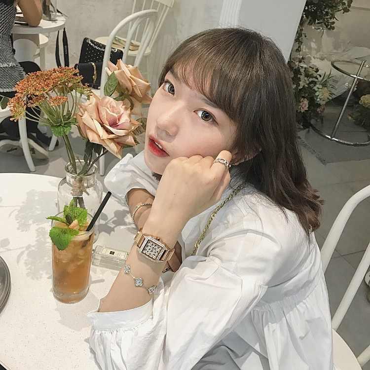 Reloj de cristal de marca de lujo 2019 para mujer reloj de vestir de moda de oro rosa reloj de cuarzo de acero inoxidable para mujer relojes de pulsera morados