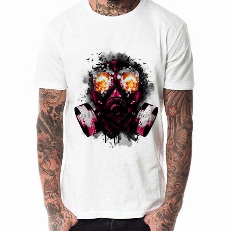 Honesty Fashion Mask Anti Gas Men T Shirt O Neck Short Sleeve Man Tee White Tops 6 Sizes Tops & Tees Back To Search Resultsmen's Clothing