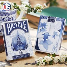1pcs Bicycle Porcelain Deck Magic Cards Playing Card Poker Limited Edition Close Up Stage Magic Tricks for Professional Magician(China)