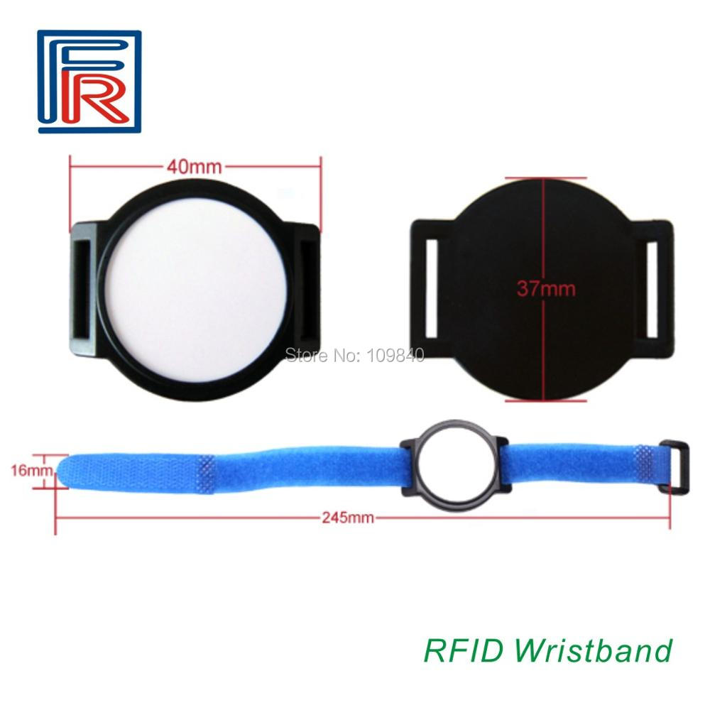Hot sale RFID 13.56MHz Nylon wristband/bracelet with compitable M1 chip Style FR-NL1 Options Different Colors 100pcs/lot
