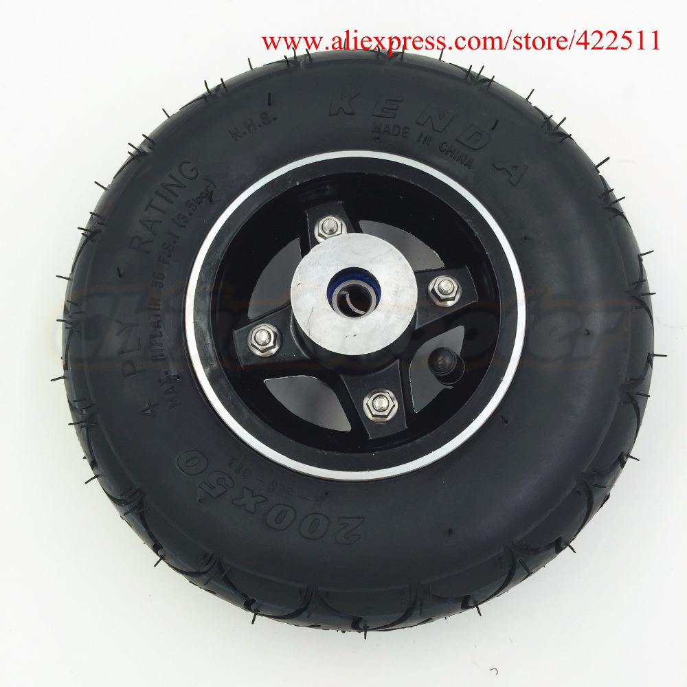 Hight Quality 8 inch Scooter Front Wheels 200*50 Kids Scooter Front Wheel with Aluminium Wheel Rim ( Scooter Spare Parts)
