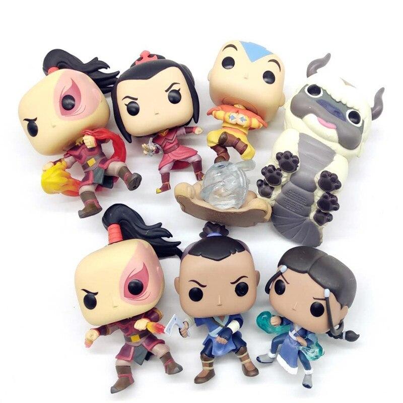 Avatar Last Airbender Luminous AZULA /Aang/ KATARA/ ZUKO/APPA/ SOKKAZUKO Vinyl Action Figures Collectible Model Toy