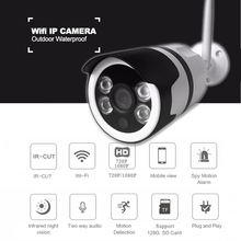 720P HD wifi IP camera outdoor waterproof Home security Mini wireless camera P2P bullet camera SD Card Slot camera surveillance