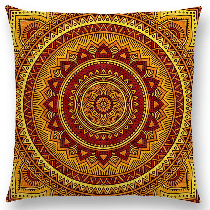 Verrassend Hippie Mandala Boho Regenboog Bloemen Patroon Kussen Vintage XS-28