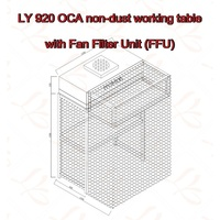 LY 920 OCA Non dust Working Table with Aluminum Vanes Fan Filter Unit (FFU)|table table|table work|table aluminium -