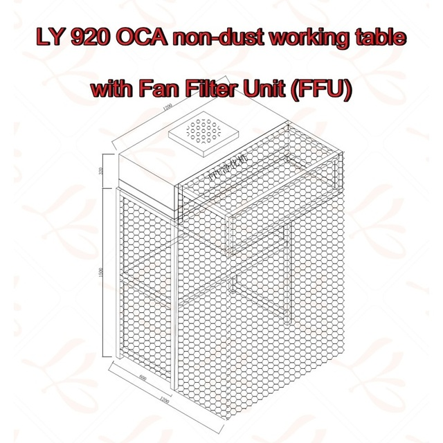 US $432 54 11% OFF|LY 920 OCA Non dust Working Table with Aluminum Vanes  Fan Filter Unit (FFU)-in Power Tool Sets from Tools on Aliexpress com |