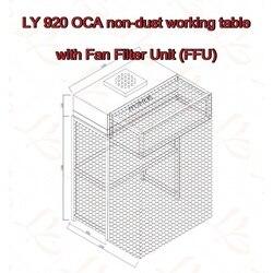LY 920 OCA stół roboczy bez pyłu z aluminiowymi łopatkami wentylator z filtrem (FFU)