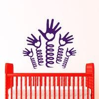 Hands Wall Decals Nursery Hearts Decal Vinyl Sticker Playroom Home Decor